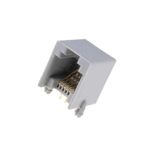 2x RJ12GPCB-M Buchse RJ12 PIN 6 Kontakte Phosphorbronze vergoldet THT