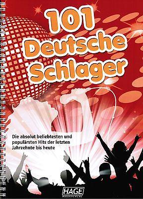 101 Deutsche Schlager Hage 3645 Keyboard Noten leichte Mittelstufe