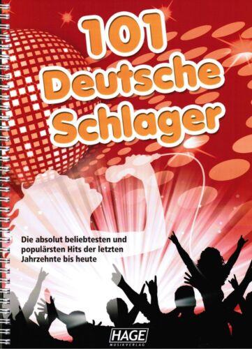 Hage 3645 leichte Mittelstufe Keyboard Noten 101 Deutsche Schlager