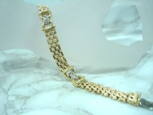 Bracelet-Gold-Yellow-18-Carat-750-000-Diamonds-0-24-CT-17-CM-26-40-Grs-R78118