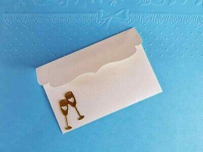 10 x kleine Briefumschläge für Geldgeschenke Kartenaufleger Gutschein