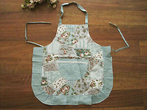 Again-Pretty-Rose-Flower-Patch-Crochet-Lace-Pocket-Frill-Kid-Cotton-Apron