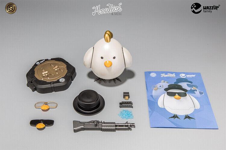 SobreCochega blancoo Decoración de aleación de Breaking Bad de pollo con modelo base de acción juguetes