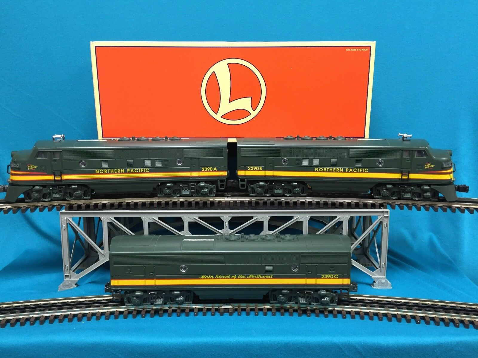 Lionel F3 ABA Northern Pacific O Scale 6-18131 New New New in the Box 013d16