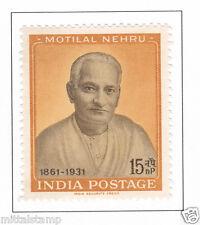 PHILA354 INDIA 1961 SINGLE MINT STAMP OF MOTILAL NEHRU MNH