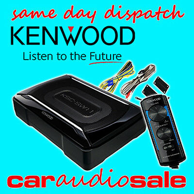 KENWOOD KSC-SW11 150 WATT COMPACT UNDER SEAT ACTIVE SUBWOOFER FREE WIRING KIT