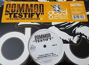 """COMMON / TESTIFY 12"""" OG US 2005 HIP HOP VINYL SEALED! KANYE WEST SENSE BE RECORD"""