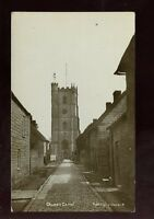 Somerset QUEEN CAMEL Church & street early RP PPC pub by J Gare