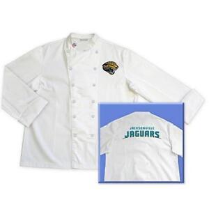 Jacksonville Jaguars Official NFL Classic Chef Chefs Coat Jacket - Sizes: L XL