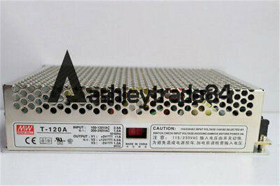 Switching Power Supply Mean Well T-120A Triple Output 120 Watts