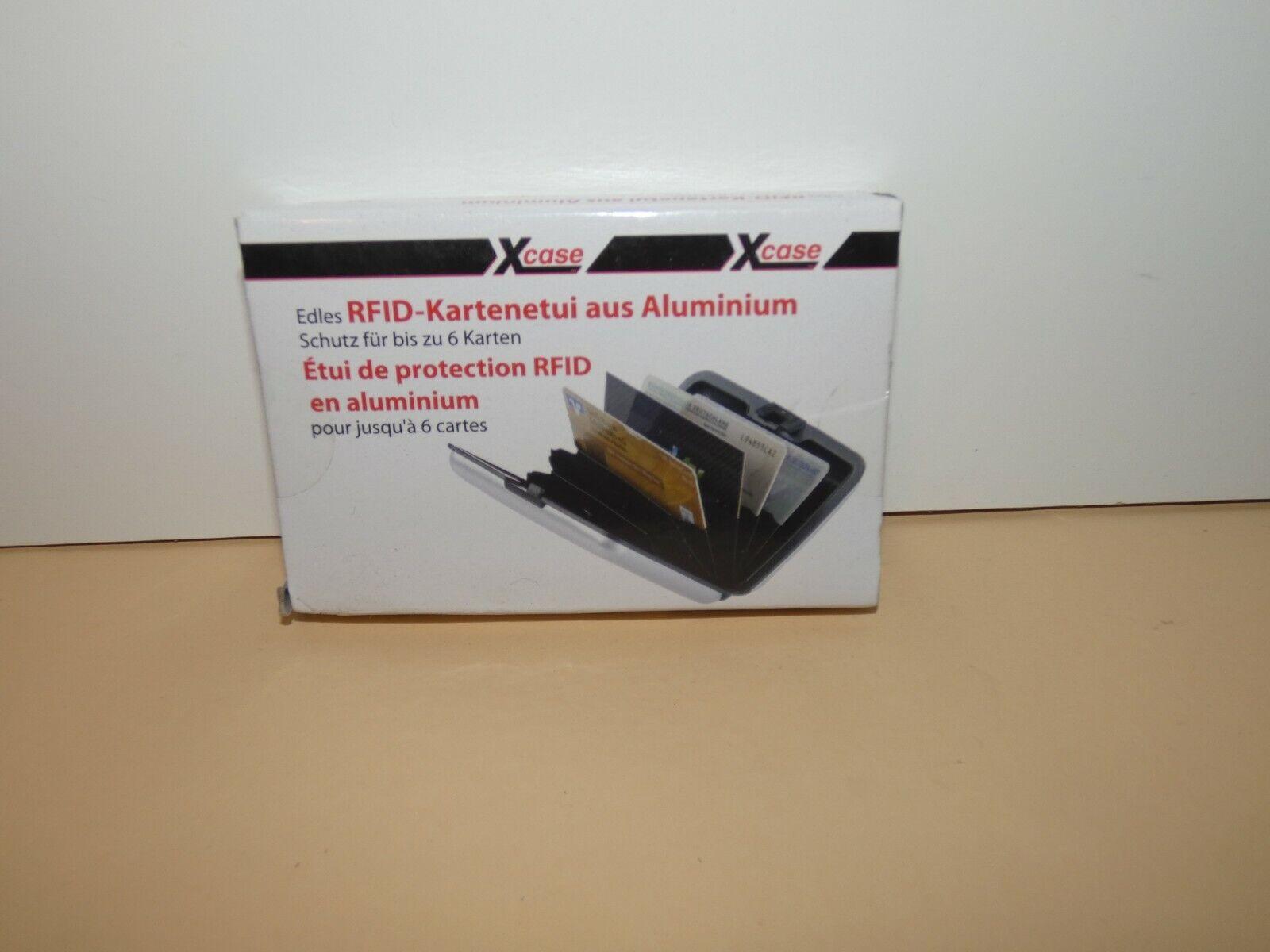 Aluminium Kreditkarten EC Karten Etui Kartenetui Visitenkartenetui RFID Schutz