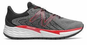 New Balance Men's Fresh Foam Evare Shoes Grey with Red