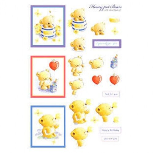 HONEY POT BEARS EMBELLISHMENT TOPPERS  FOR CARDS /& CRAFTS
