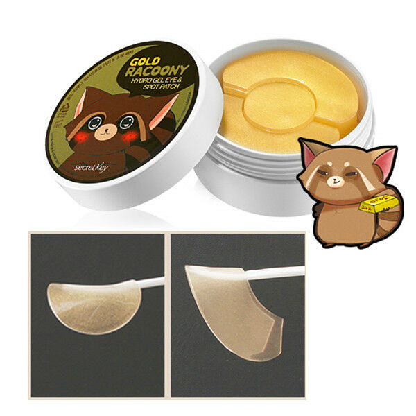 Secret Key Gold Raccony Hydro Gel Eye & Spot Patch 90P (Eey60p & Spot patch 30p)