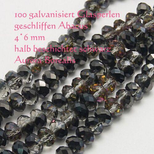 galvanisierte Kristallschliffperlen Schmuckperle Bastelperle electroplated Glas