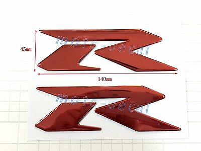Raised 3D Chrome For Suzuzki GSXR1000//750//600 Emblem Fairing Streak Tank Decal