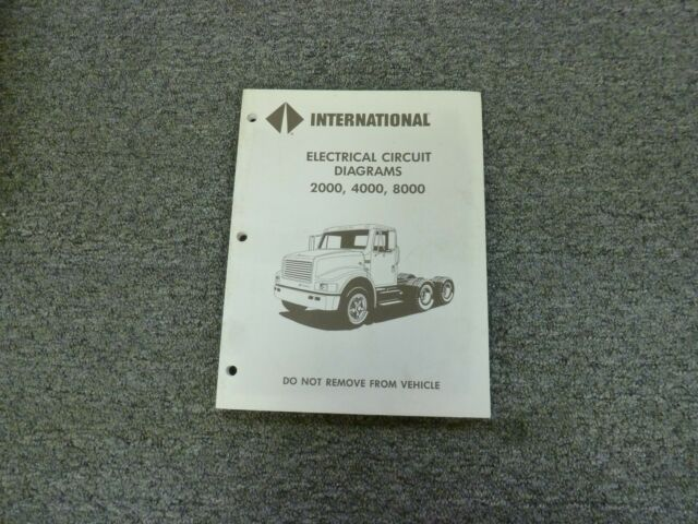 1995 International 2554 2574 2654 2674 Truck Electrical Wiring Diagrams Manual