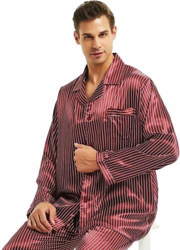 Details about  /Mens Silk Satin Pajamas Set Sleepwear Loungewear S~4XL Plus/_Gifts