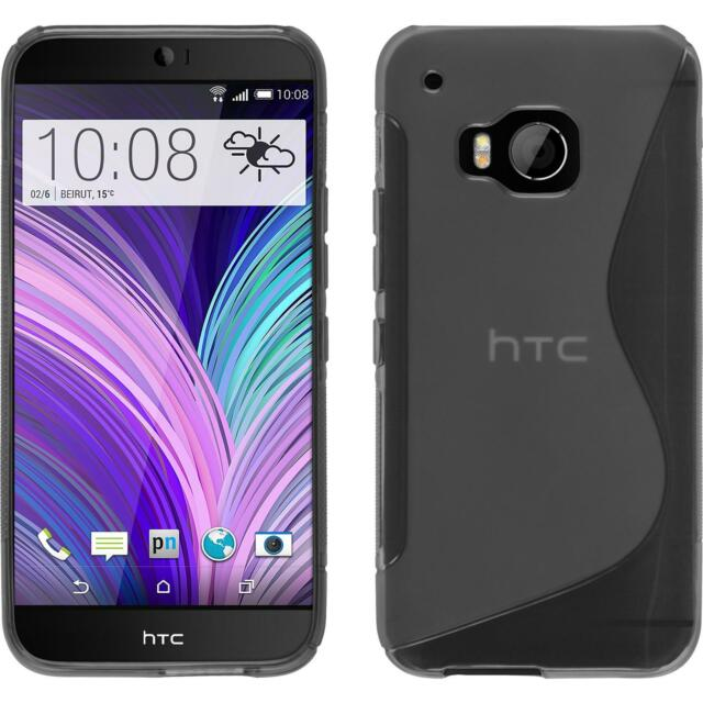 Silicone Case for HTC One M9 S-Style gray + protective foils