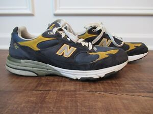 buy popular b4894 299dd Details about New Balance Mens 993 Navy Heritage Collection Size 14 Blue  Yellow Made In USA