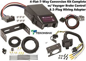 2011 2014 dodge durango tekonsha 4flat 7way conversion w dodge 1500 trailer wiring