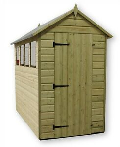 Garden Sheds 5 X 9 garden shed 5x9 shiplap apex roof tanalised pressure treated with