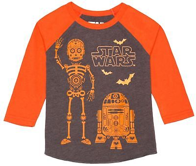 Star Wars Toddler Boys R2D2 Winter Scarf Blue Long Sleeve TShirt 12M Christmas