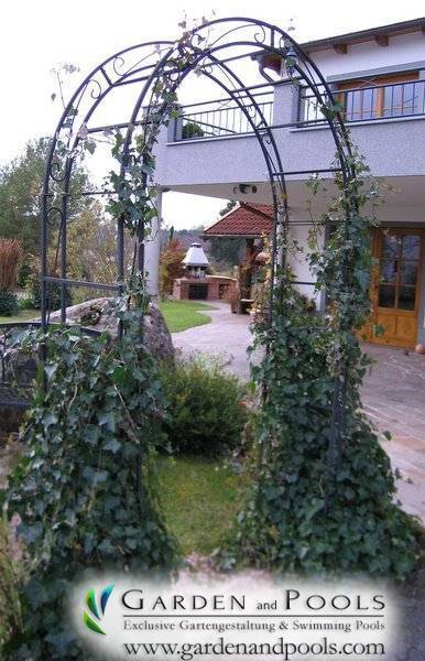 Massiv Rosenbogen HOLLAND RUND B 1,20 m Pergola  Rosensäule   Canzello di rose
