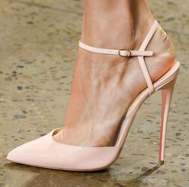 12CM Donna Sexy High Slim Heels Slingbacks Stilettos Pointed Toe Shoes HOT E968