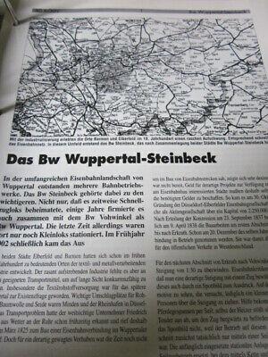 Bahnbetriebswerk mit Gleisplan N 6 Bw Wuppertal Mirke 12S