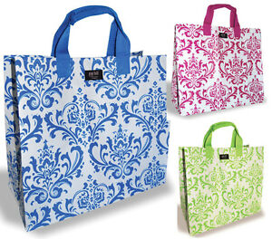 Gigi Hill 'The Gina' Grocery Tote in Blue, Pink green reusable Designer Bag New