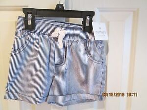 Carter/'s Toddler Girls Skorts Blue and White Striped Sizes 2T and 4T NWT