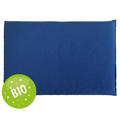 Leinsamenkissen 30x20cm Bio Stoff blau-wei/ß K/örnerkissen Als W/ärmekissen /& K/ältekissen
