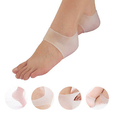 1Pair New Silicone Moisturizing Gel Heel Socks Cracked Foot Skin Care Protectors