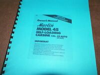 Marlin, Camp 45, Manual, 45acp, Camp Carbine 11 Pages
