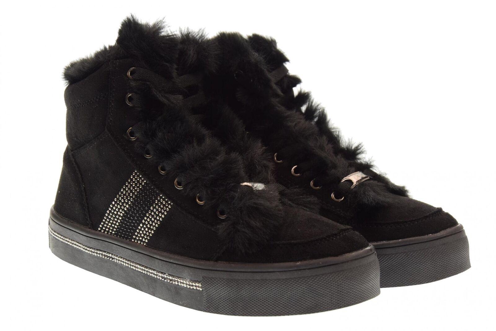 B3d Chaussures A18u Chaussures Femme Baskets High 41542 Noir