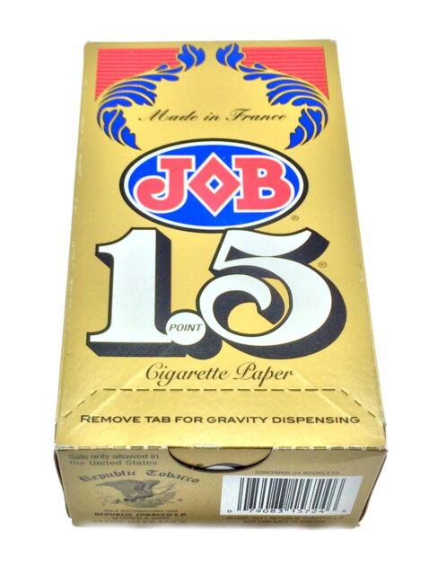 JOB 1 1//2 Brand New Sealed Free shipping! JOB 1.5 Rolling Papers 24 Booklets