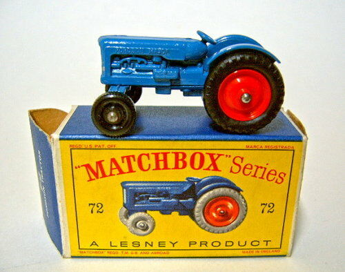 Matchbox Rw 72a Fordson Tractor bluee mint in  D  box