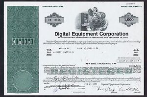 DIGITAL-EQUIPMENT-CORP-ORIGINAL-CERTIFICATE-for-1000-SHARES-in-CLEAN-CONDITION
