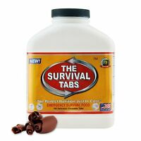 180 Survival Tabs Chocolate Outdoor Meal Food 15 Days Supply All 100% Natural