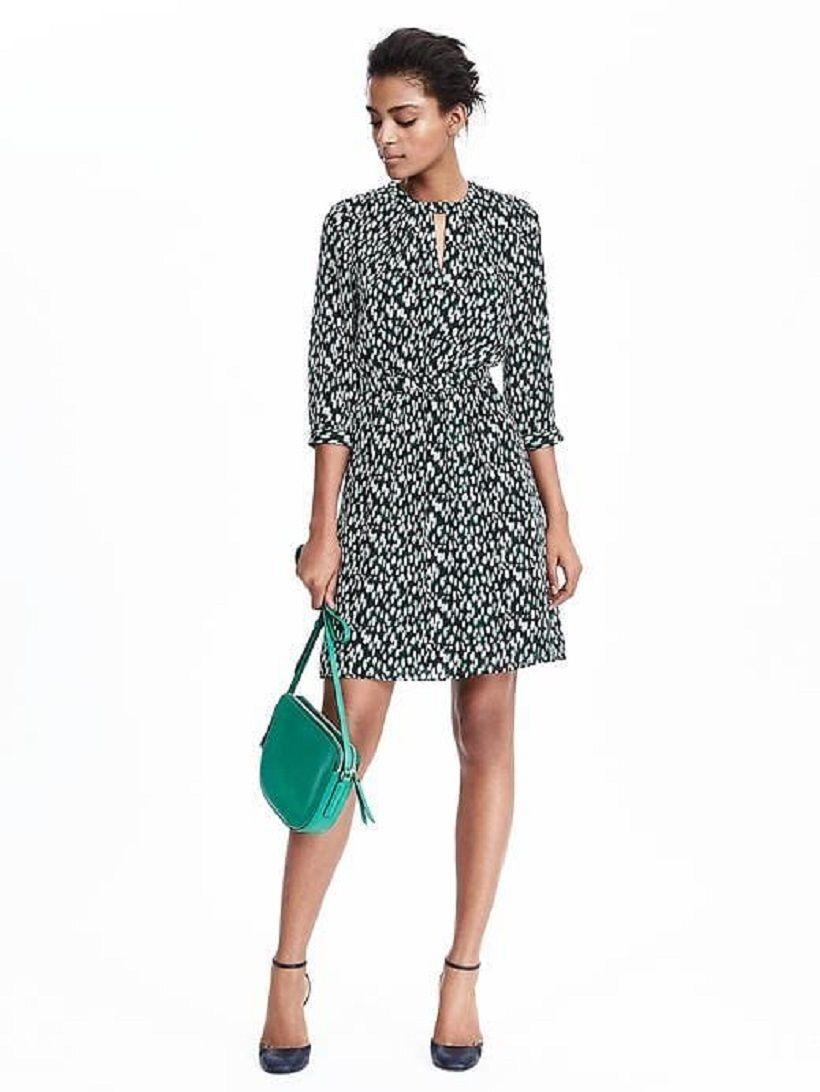 NWT Banana Republic Limited Edition leopard print keyhole dress Silk  Größe 0 P