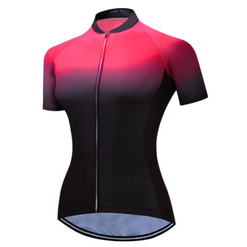 Women Cycling Jersey Bicycle Wear Short Sleeve Clothing Racing Bike T-Shirt Tops