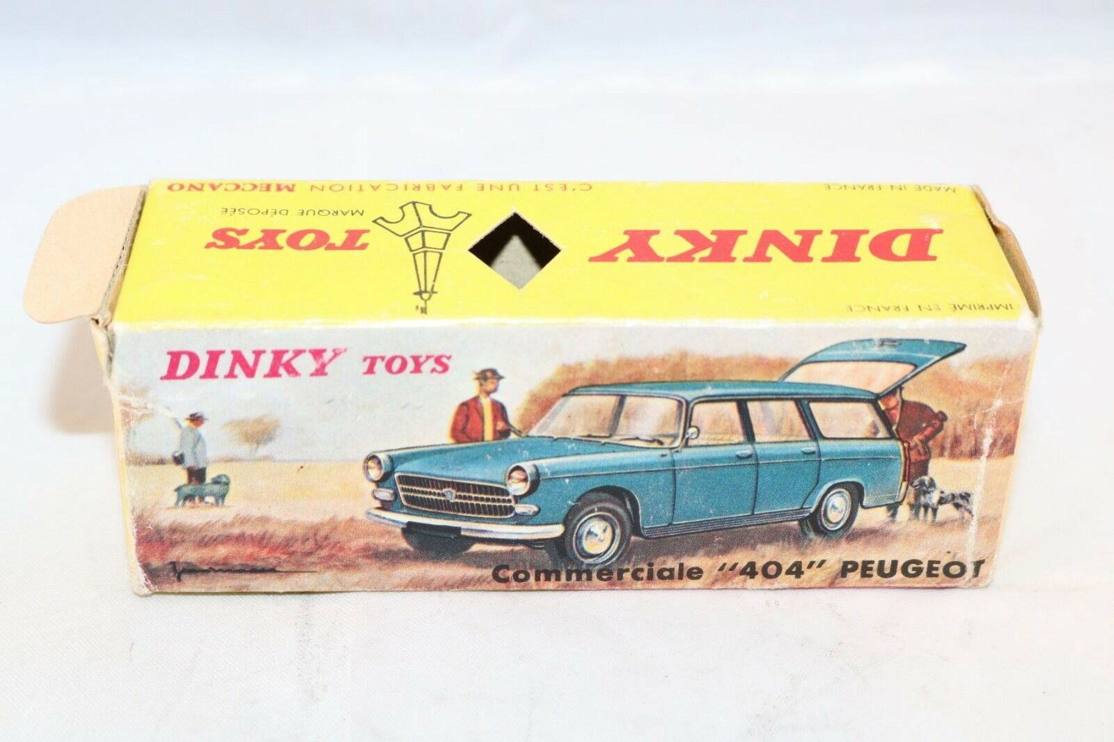 Dinky Toys 525 Peugeot  404  empty empty empty original excellent plus complete box with tag 80d210