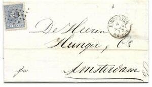 Puntstempel 33 Eindhoven op nr 19 Cpl brief 1873