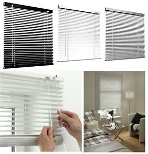 Window Blinds Silver Black White Colour