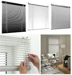 Aluminium-Store-Venitien-Stores-Argent-Noir-couleur-blanc-25-mm-lamelles
