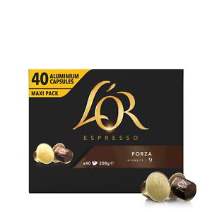 L'Or LOR Espresso Forza Nespresso* Compatible Pods [400 Capsules] OCT 2021 DATE