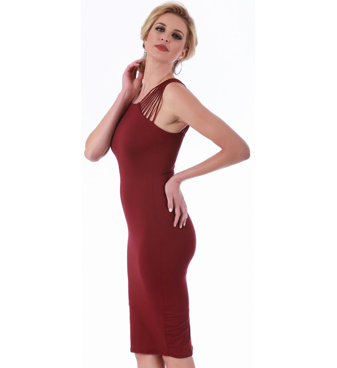 LaMonir Short Dress with Strappy Shoulders