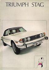 Triumph Stag 1973-1976 UK Market Sales Brochure