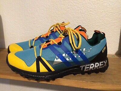 Comorama Incidente, evento seta  Men's KITH x Adidas Terrex Trail BOOST Ronnie Fieg Agravic Blue Yellow  Ultra   eBay